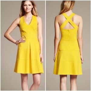 Banana Republic Sleeveless Crossback Ponte Dress 0